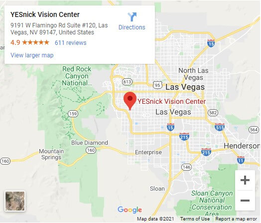 YESnick Vision Center Map