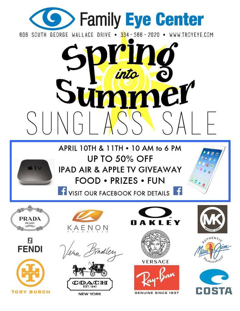 Family Eye Center Sunglass Show Flyer