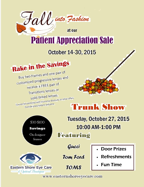 EasternShore Customer Appreciation Sale Oct 2015 rs