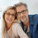 middle aged couple with eyeglasses