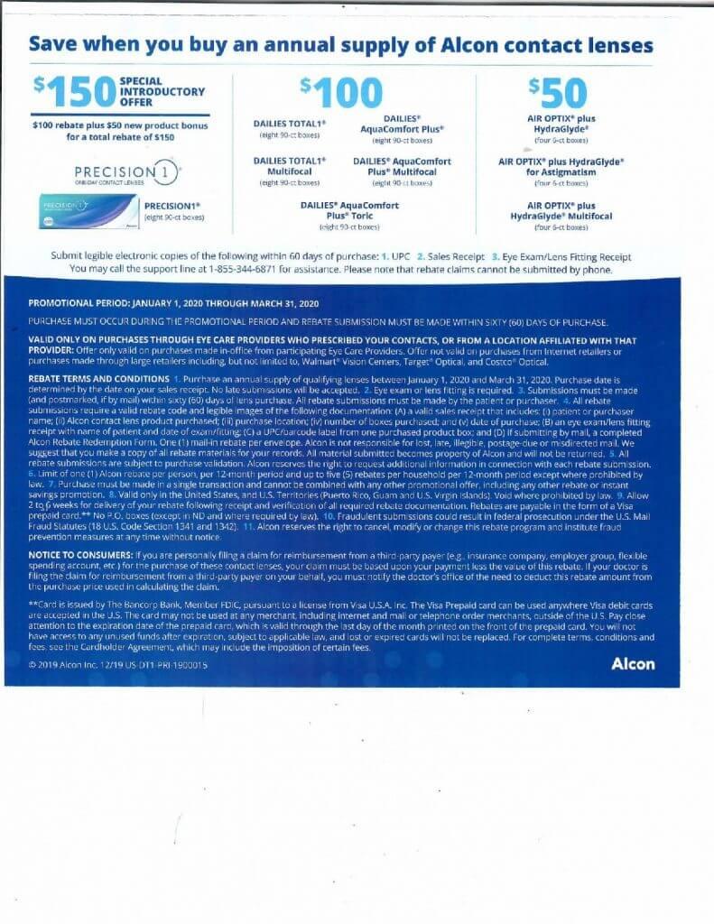 Rebates for Contact Lenses in San Jose, CA