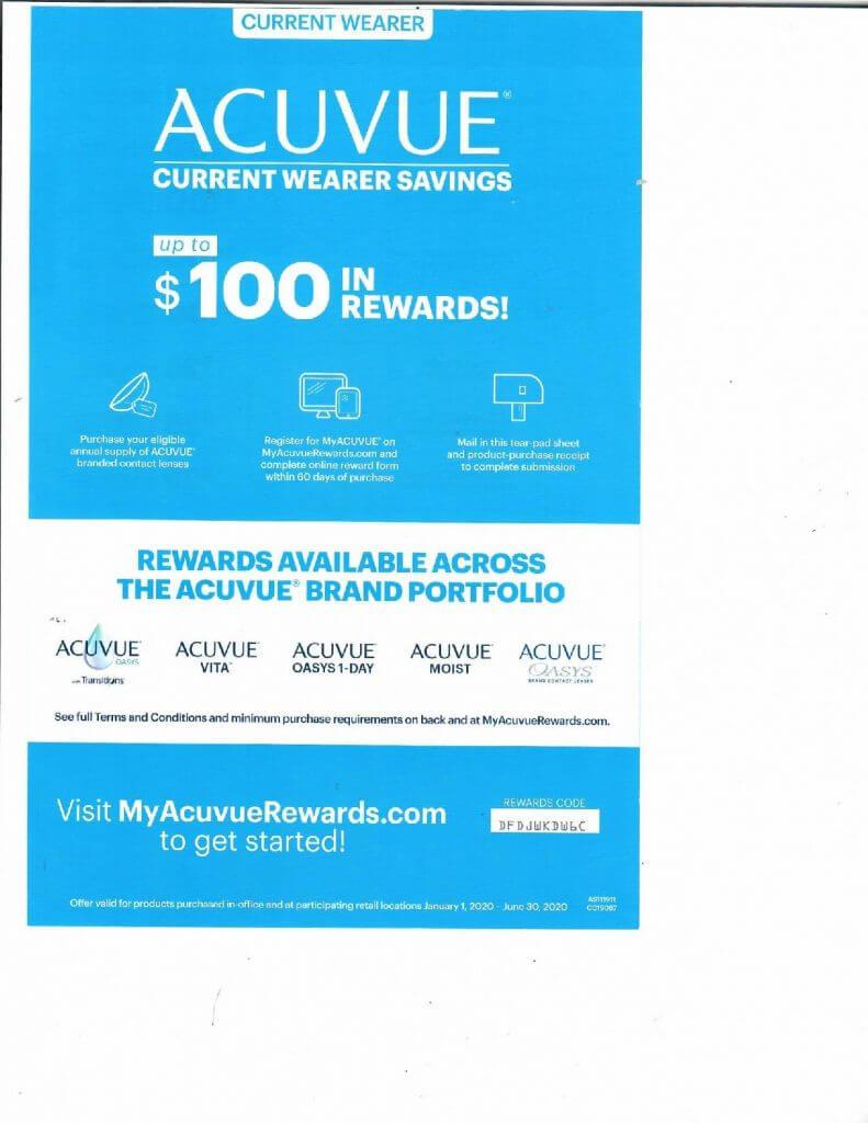 Acuvue Contact Lens Rebates in San Jose, CA