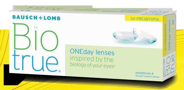 Eye exam, bausch+lomb biotrue oneday for presbyopia in San Jose, CA