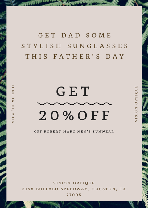 Get dad some stylish readers this fathers day