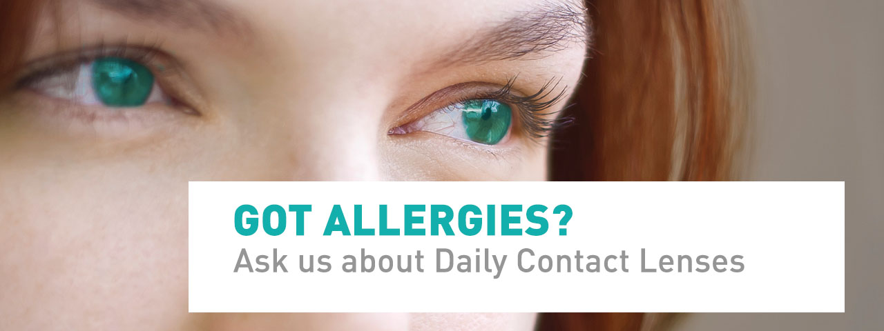 Ad for Allergies and Daily Disposable Contacts