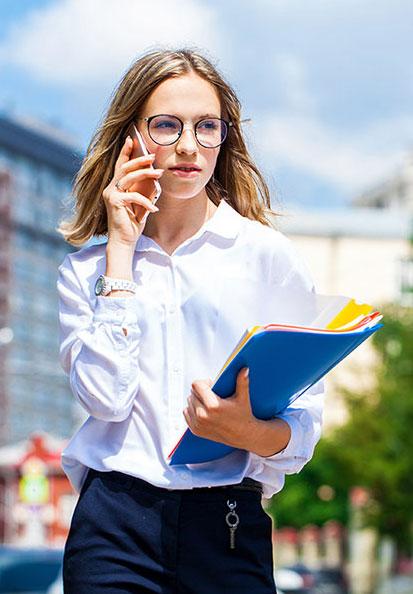 Girl wearing sunglasses in Johnson City