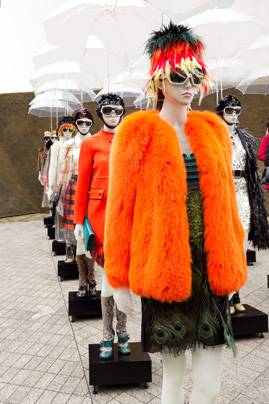 Prada models orange