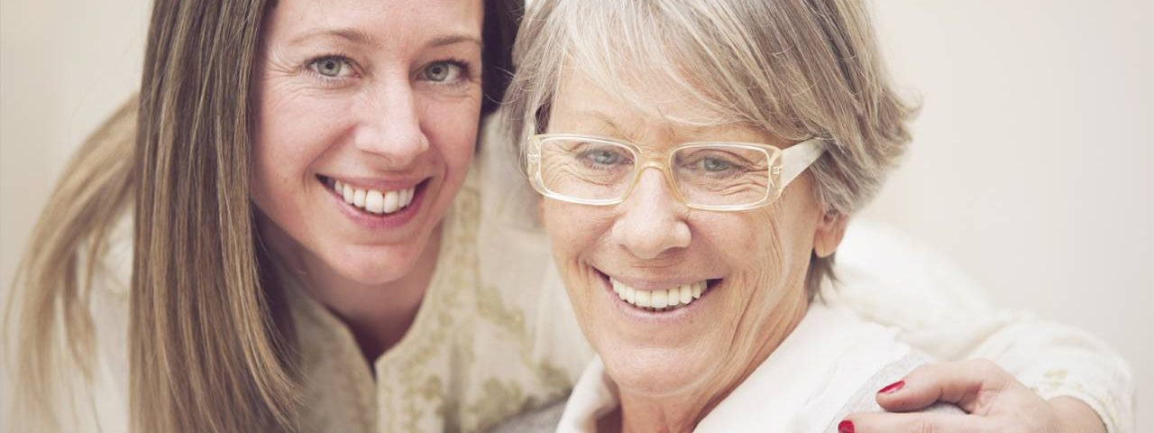 Eye care, elderly woman wearing glasses in Mentor, Ohio