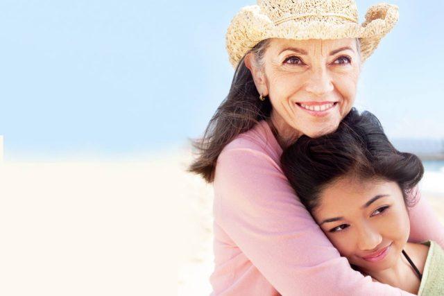 Optometrist, senior woman with her granddaughter in Olathe, KS