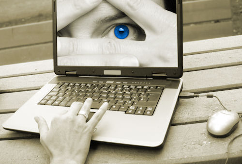 laptop with eye