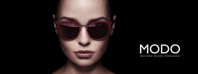 Eye doctor, woman wearing Modo sunglasses in Waterloo, ON