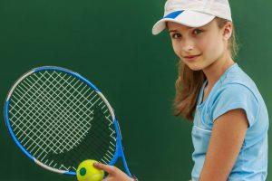Eye care, teenage girl with a tennis racket, in San Diego, CA