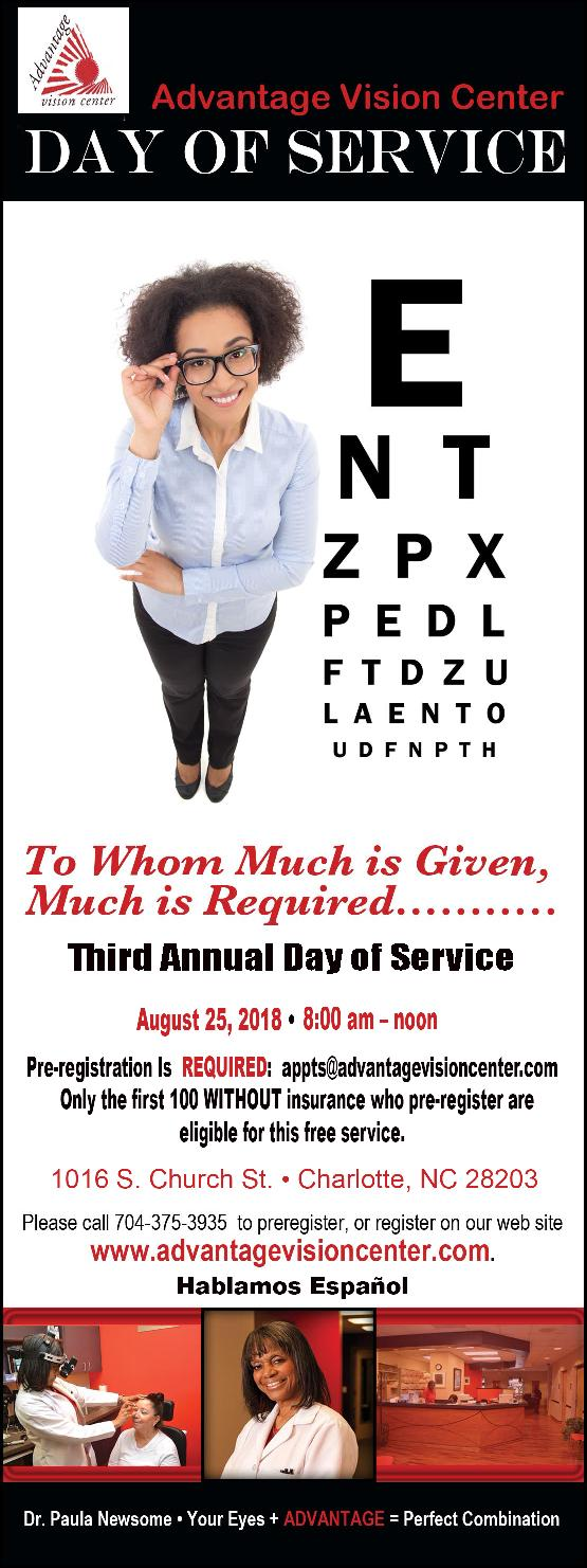 Day of Service Graphic - eye doctor - Charlotte, NC