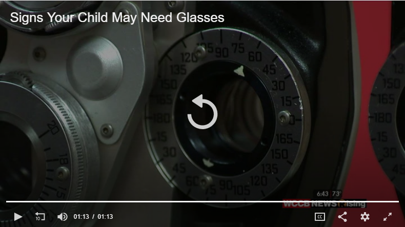 signs your child may need glasses - video screen shot - eye doctor - Charlotte, NC