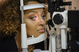 african american woman getting eye exam 2