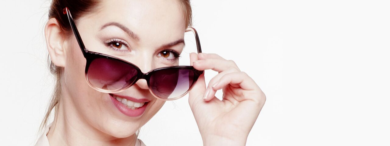 Woman wearing sunglasses in Charlotte, NC