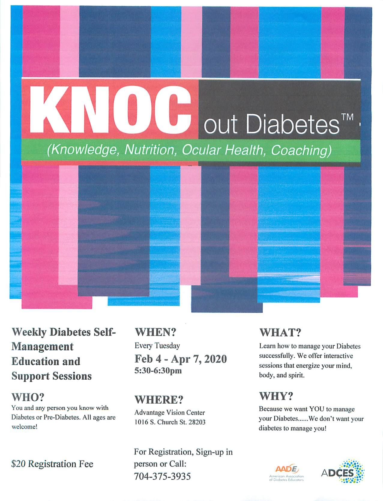 KNOC OUT DIABETES - Seminars - Eye Care - Charlotte, North Carolina