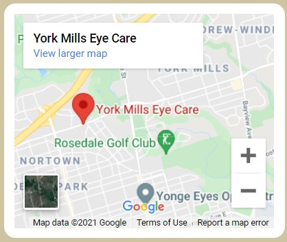 York Mills Eye Care Map
