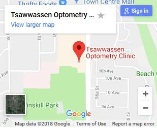 Tsawwassen Optometry map