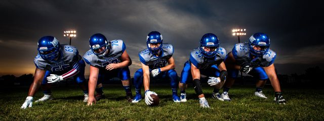 optometrsit, football athletes playing without glasses or contacts, after using Ortho-K in Huntington, Lake Grove, New York