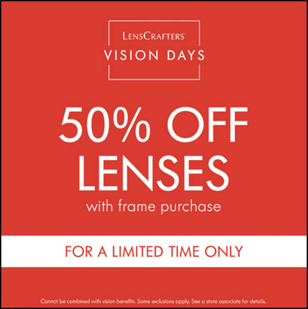 Image result for lenscrafters vision days
