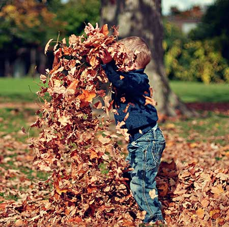 kid playing outside