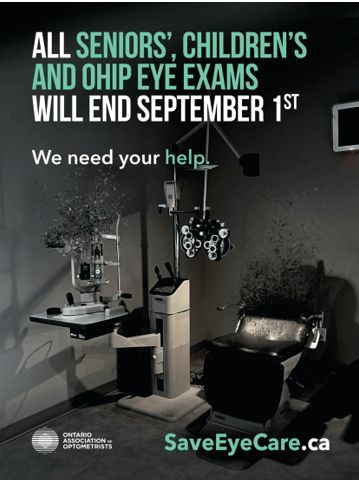 Image of exam room and text OHIP
