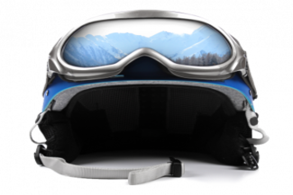 winter ski helmet goggles
