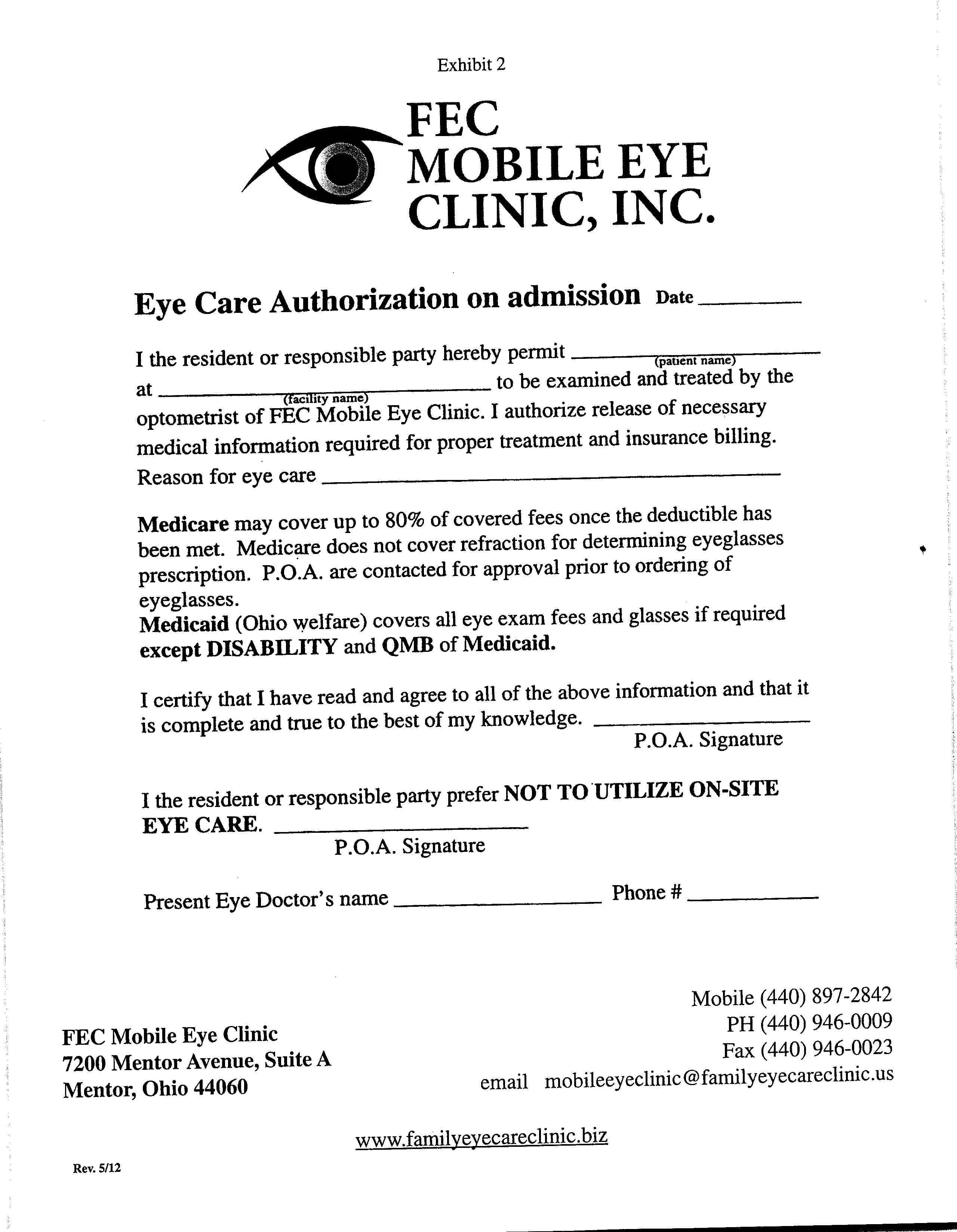 Mobile Eye Clinic | Home Visit Eye Doctor | Family EyeCare