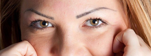 Optometrist, woman brow eyes in San Jose, CA