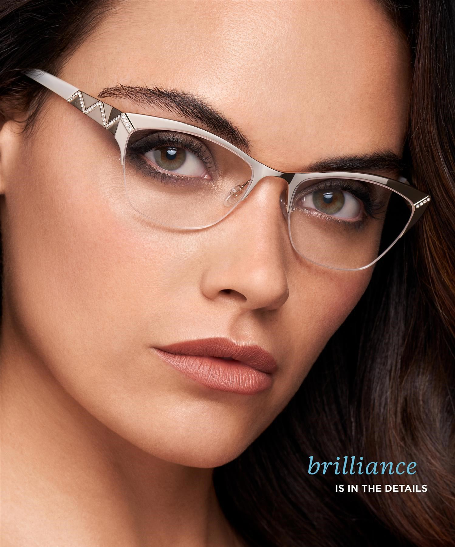 Eye care, woman with Tura designer frame in San Jose, CA