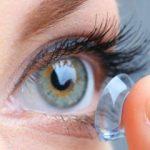 woman putting contact lenses in Berryessa, CA