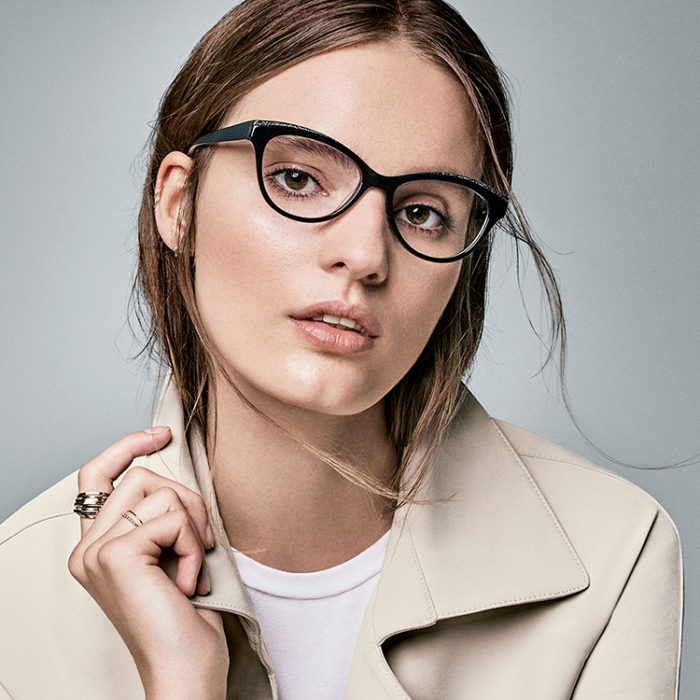Eye doctor, woman with Nine west designer frame in San Jose, CA