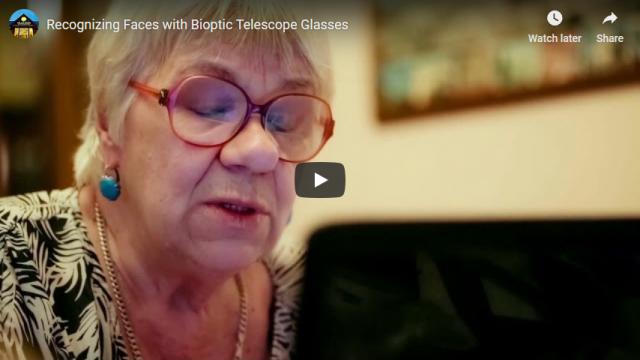 Screenshot 2019 03 20 Recognizing Faces with Bioptic Telescope Glasses YouTube