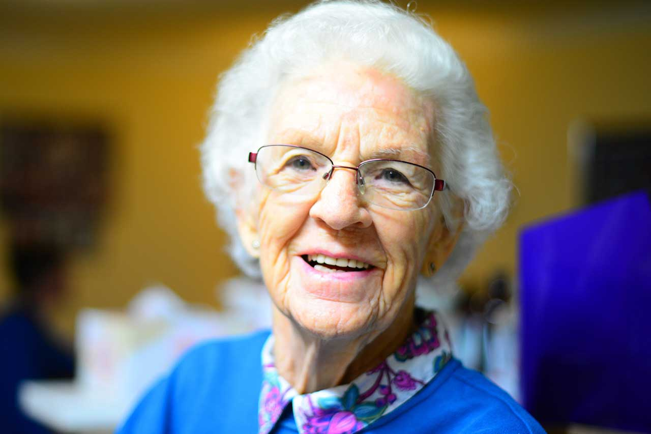 Older Lady with Low Vision