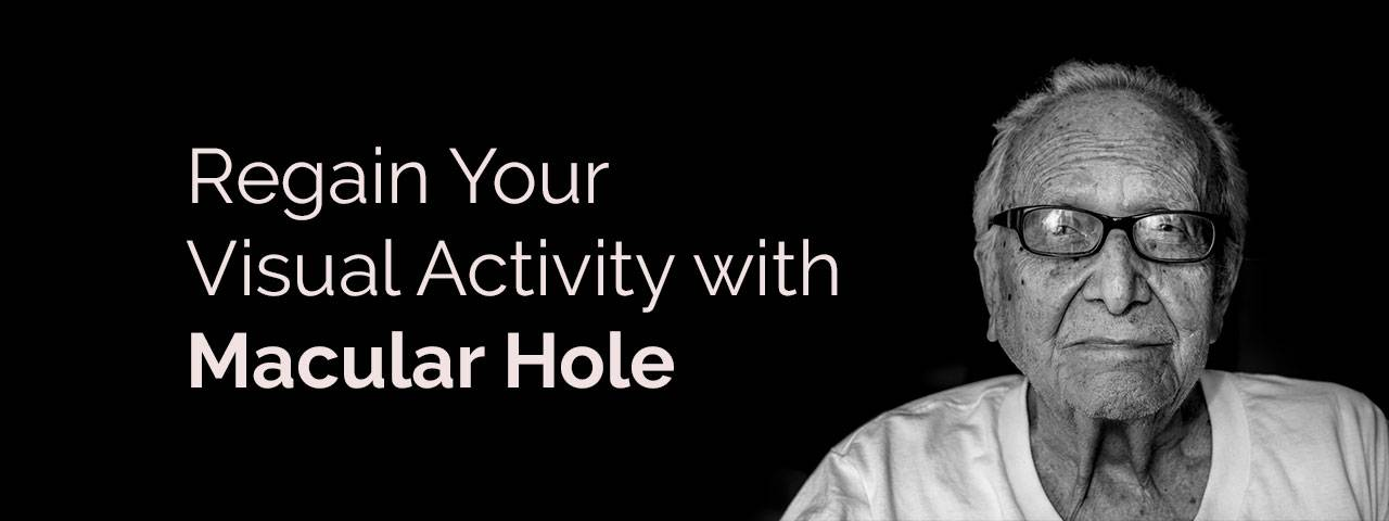 visual activity with macular hole