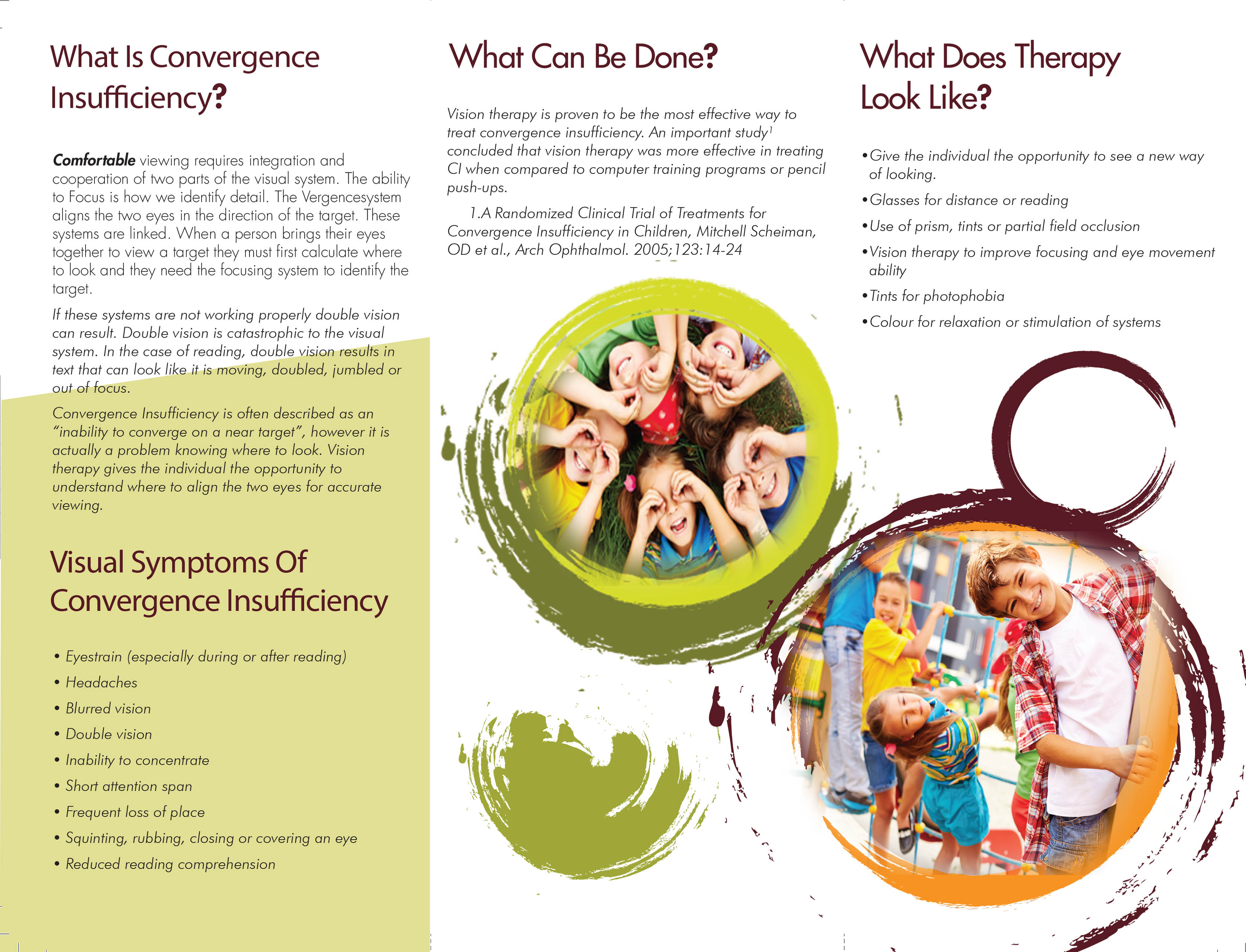 TriFold Convergence Insufficiency Leaflet 1