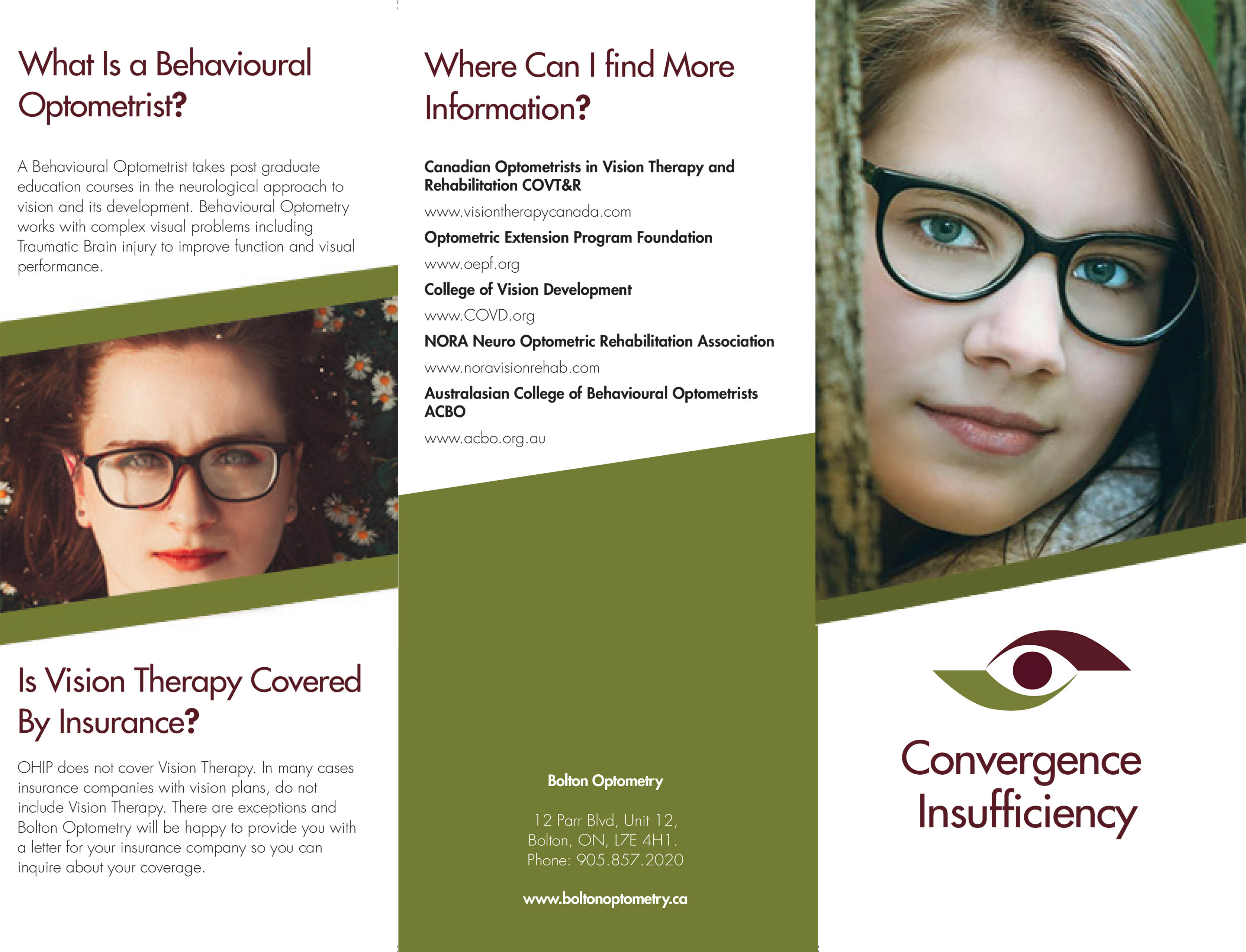 TriFold Convergence Insufficiency Leaflet 2