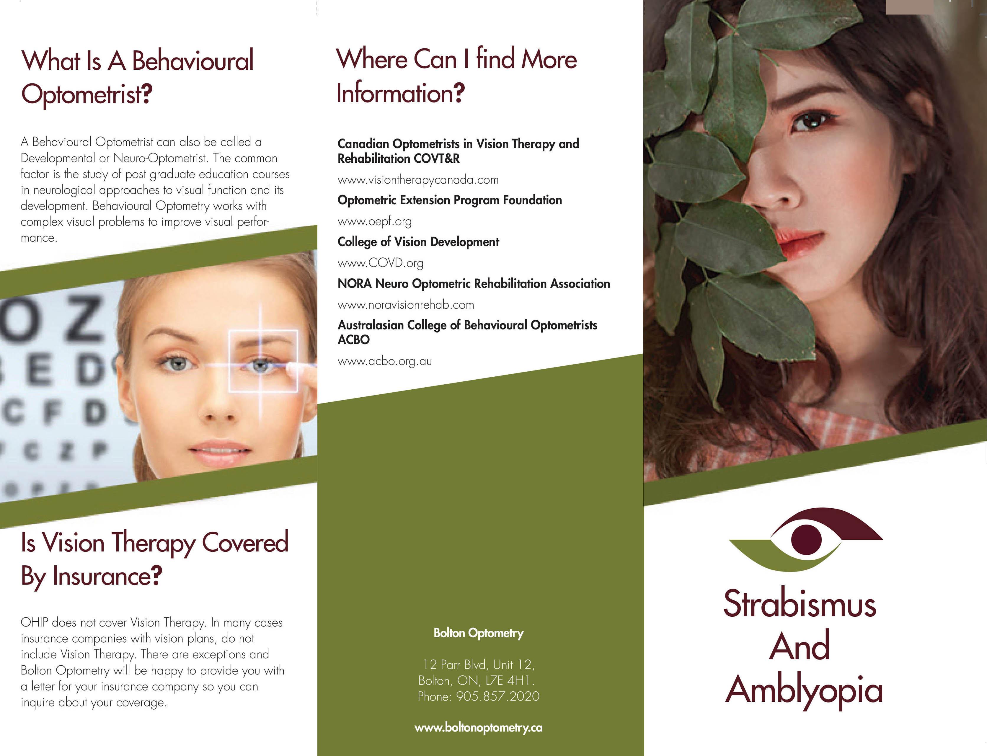 TriFold Strabismus Amblyopia Leaflet 2