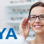 optometrist, woman selecting her hoya lenses in Bolton, ON