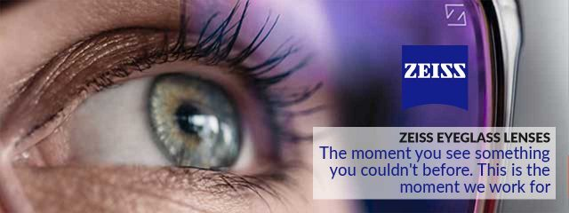 eye doctor, woman wearing zeiss lenses in Bolton, ON