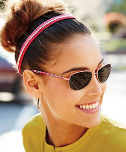 Model wearing vera bradley sunglasses