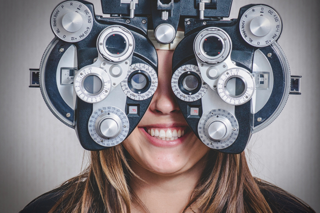 woman having eye exam - Oak Brook, IL