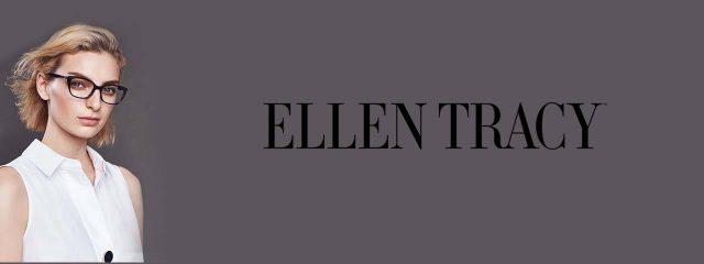 Optometrist, woman wearing Ellen Tracy eyeglasses in Oak Brook, IL
