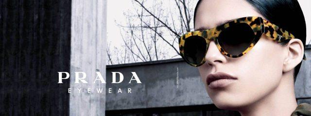 Optometrist, woman wearing Prada sunglasses in Oak Brook, IL