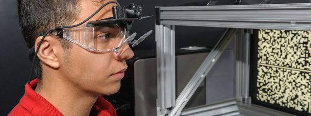 Optometrist, man at a vision test in Oak Brook, IL