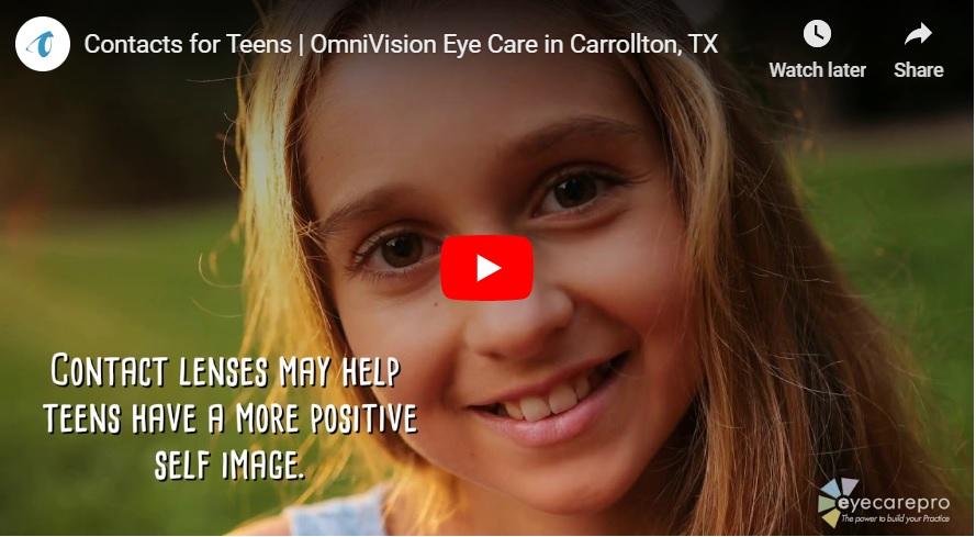 Video: Contact Lenses For Teens in Carrollton & Plano, Texas