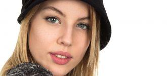 Woman Blonde Black Hat 1280×853