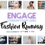 fasion runway ad with address