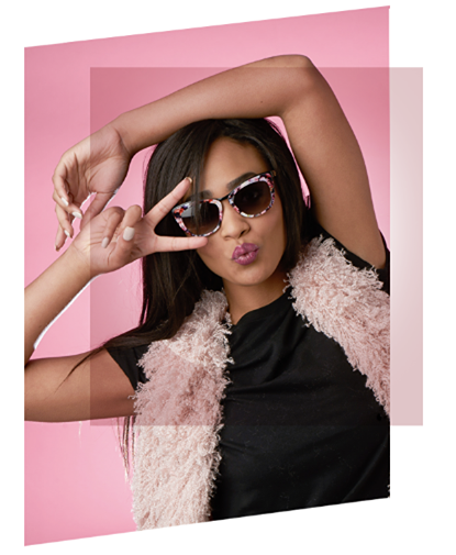 Optometrist, Model with sunglasses in Westerville, Johnstown, Lewis Center, OH